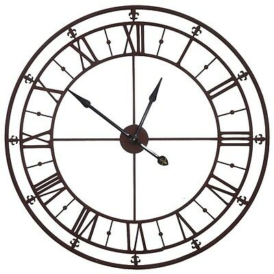 finest style ancienne grande horloge pendule murale en metal fer style antique cm with grosse. Black Bedroom Furniture Sets. Home Design Ideas