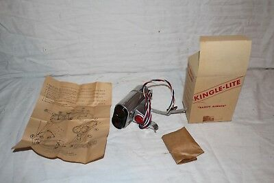 Vintage 1940's Kingle-Lite Bicycle Metal Turn Signal Light~New In Box Sign