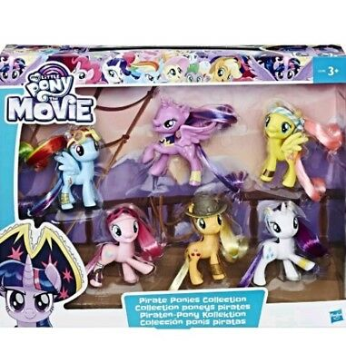 my little pony the moive pirate ponies collection 6 pack hasbro uk