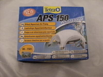 Tetra Air Pump APS 150 Quiet Powerful Aquarium white edition