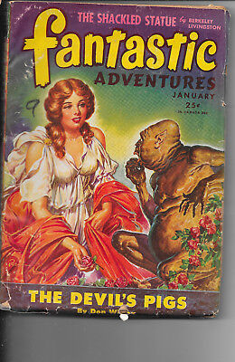 Fantastic Adventures Vol.7 #1 The Devil's Pigs Don Wilcox January 1944