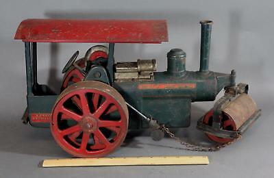 Antique Pressed Steel & Cast Iron Buddy L Construction Toy, Steam Road Roller