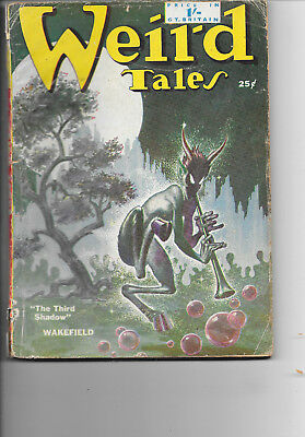 Weird Tales Vol.43 #1 1950 The Third Shadow H. Russell Wakefield