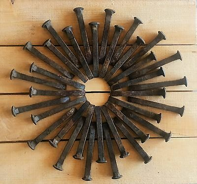 """75 Vintage Carbon Steel 6 3/4"""" Railroad Spikes (ALL STRAIGHT)  Lot of 75"""
