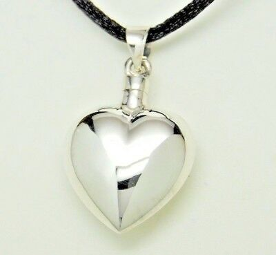 Heart Cremation Urn Necklace Sterling Silver Cremation Jewelry Bottle Urn 925