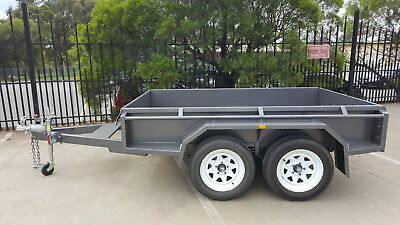 8x5 Tandem Trailer  New Wheels Hydraulic Brakes