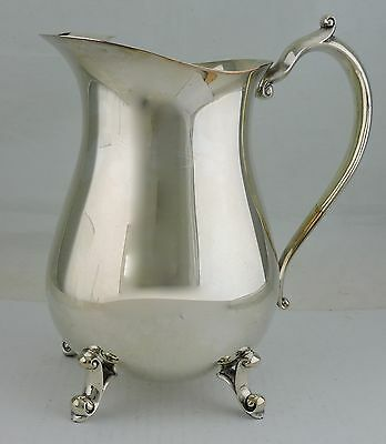 Vintage Silver Plated Silver Plate Pitcher W/ Ice Lip Holloware B