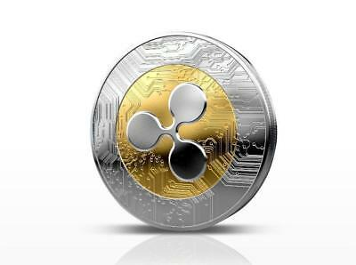 Gold&Silver Ripple Commemorative Round Collectors Coin XRP Coins is Gold Plated