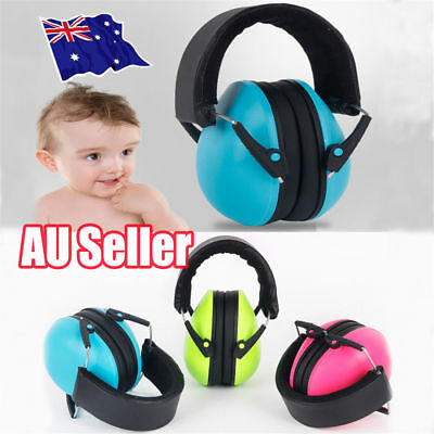 Baby Earmuffs Kids Children's Toddler Ear Muffs Hearing Protection Headband ON