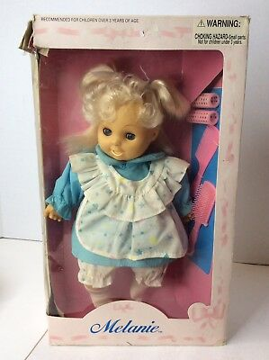 Vintage Uneeda Melanie Doll Baby Blonde Hair Soft Filled Body With Box NEW