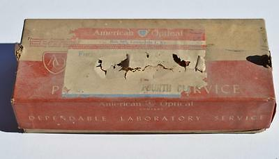 Vtg Ao American Optical Mailing Box Spectacle Eyeglass Lenses Louisville Ky Nos