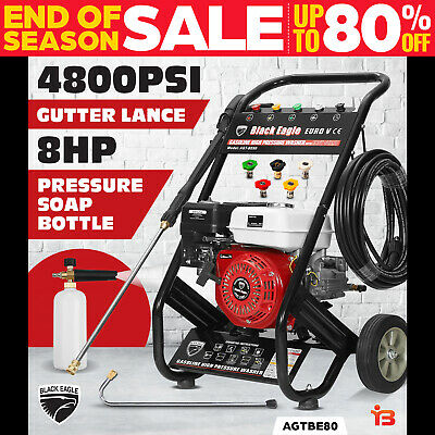 NEW Black Eagle 8.0HP High Pressure Washer 4100PSI Petrol Water Gurney Cleaner