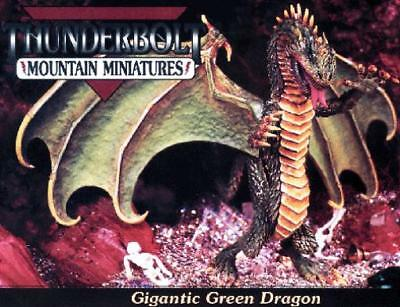 Thunderbolt Mountain Fantasy Mini 25mm Gigantic Green Dragon Box SW