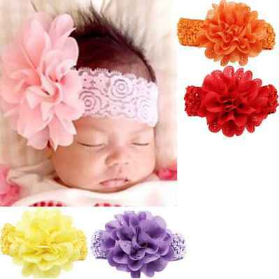 Kids Baby Girls Toddler Flower Headband Hair Band Newborn Shower Birthday Gift