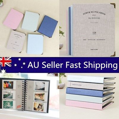 120 Slots Book Photo Album Picture Storage Memo For Fujifilm Polaroid Instax AU