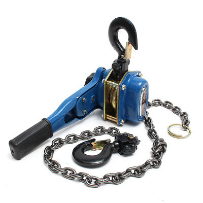 AU Blue 3/4 Ton Lever Block Chain Hoist Ratchet Type Comealong for Puller Lifter