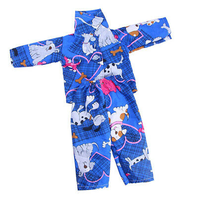 Adorable Blue Animal Pajamas Pjs for 18'' American Girl Our Generation Dolls