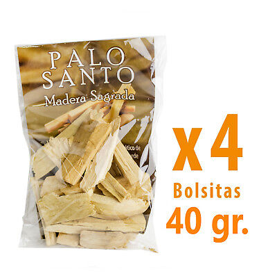 Palo Santo, Incienso, Madera Sagrada arbol Natural, Inciensos, 4 Bolsitas 40 gr