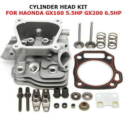 CYLINDER HEAD VALVES &PLATE FREE HEAD GASKET For Honda GX160 5.5HP GX200 6.5HP