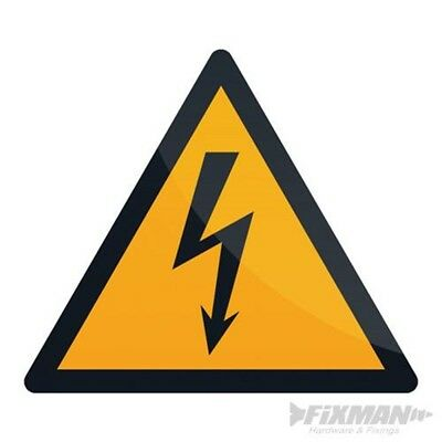 Fixman Electricity Warning Sign 100 x 100mm Self-adhesive - Warning Electricity
