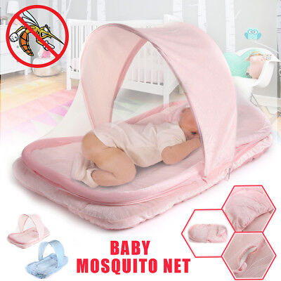 Foldable Infant Baby Mosquito Net Travel Tent Mattress Cradle Bed + Pillow Gifts