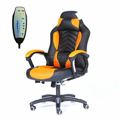 COSMETIC DAMAGED FoxHunter Luxury 6 Point Massage Office Chair MC09 Orange
