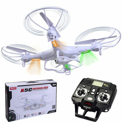 Syma X5C-1 Explorers RC Quadcopter Drone with HD Camera 2.4G 4CH 6-Axis LCD Gyro
