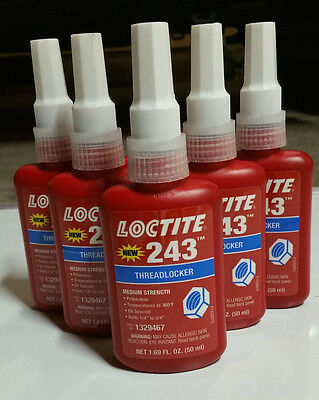 """LOCTITE  243, 50mL Bottle  """"MADE IN AMERICA"""", """"100% Guaranteed Authentic"""""""