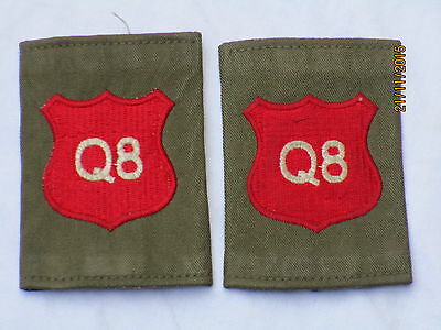 Shoulder Marks: Royal Military Academy Sandhurst, RMAS , Red on Olive, (Q8)