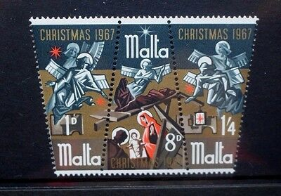 MALTA 1967 Christmas The Nativity. Set of 3. Mint Never Hinged. SG393/395.