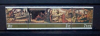 MALTA 1975 Christmas. Set of 3. Mint Never Hinged. SG549/551.