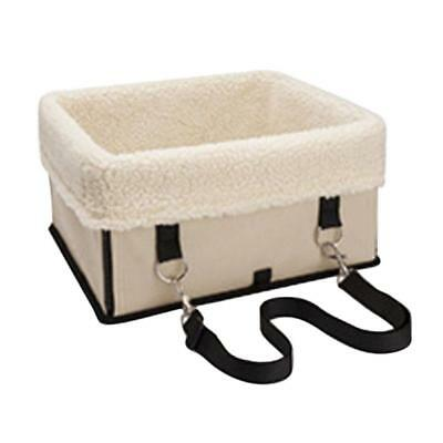Pet Carrier Booster Car Kennel for Small Medium Large Dog 34x29cm Beige M