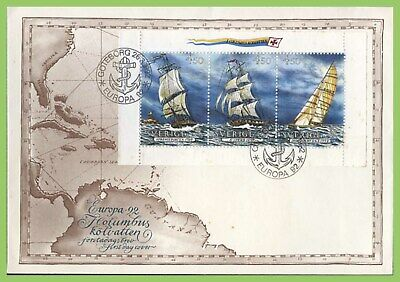 Sweden 1992 Europa. 500th Anniv of Discovery of America set on First Day Cover