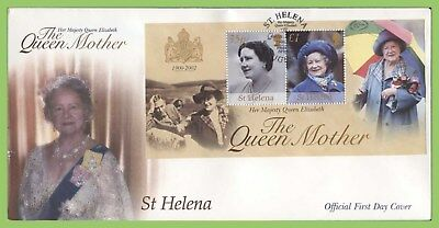 St Helena 2002 Queen Elizabeth the Queen Mother m/s First Day Cover