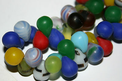 Böhmische Glasperlen Mali Wedding beads Fulani Böhmen Trade Beads Tropfen 8 mm