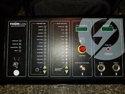 THOR LX2 laser therapy table top control unit W/ 2 Probes as shown in pictures