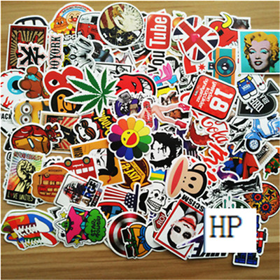 50pcs /lot Sticker Bomb Decal Vinyl Roll Car Skate Skateboard Laptop Luggage EE