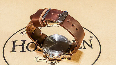 Horween Tan Chromexcel leather watch strap, 16mm - 24 mm Handmade in Finland