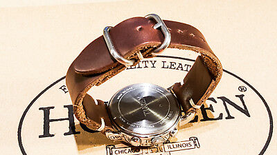 Horween Tan Chromexcel leather watch strap 16, 17, 18, 19, 20, 21, 22, 23, 24 mm