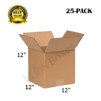 12x12x12 Packing and Shipping boxes of Carton for Delivery and Moving(25 PACK)
