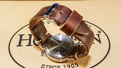 Horween Tan Chromexcel leather watch strap 16,17,18,19,20,21,22,23,24,25,26 mm