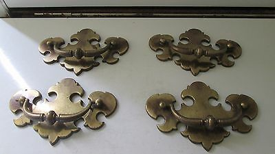 "Vintage Antique Hardware Lot 4 5.5"" Drawer Pulls Handles Chippendale"