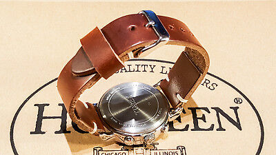 Horween Tan Cxl horse leather watch strap 16,17,18,19,20,21,22,23,24,25,26 mm