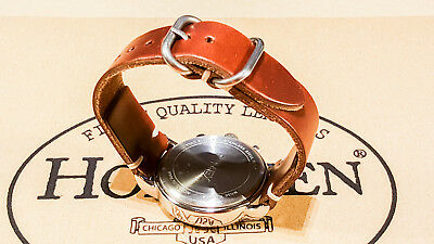 Horween Tan Cxl horse leather watch strap 16,17,18,19,20,21,22,23,24 mmFINLAND