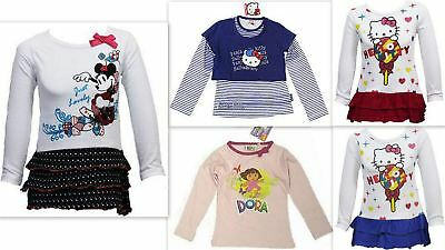 Girls Hello Kitty Long Sleeve Cotton T-Shirt Top