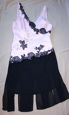 Cache & Adrianna Papell 2 Piece Dressy Evening Outfit Pink Black Womens 12