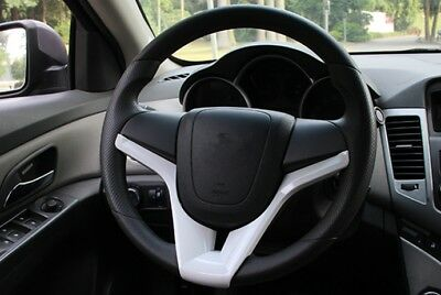 1PCS ABS Steering Wheel U-shaped Cover Trim Fit For Chevrolet TRAX 2014-2015