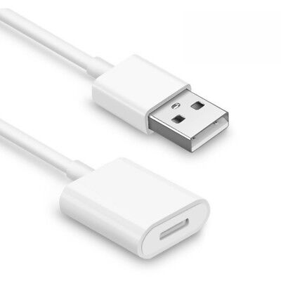 USB Powered Charger Charging Adapter Cable for Apple Pencil iPad Pro White