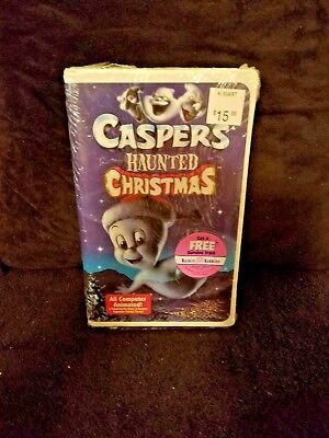 Universal Studios Vhs Caspers Haunted Christmas Sealed New Music By Randy Travis