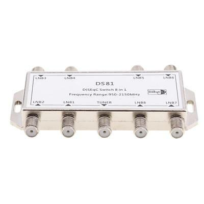 8X1 Satellite DiSEqC Multi-Switch for FTA Satellite with 1 Output